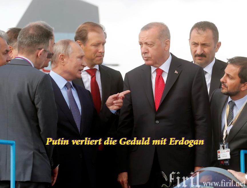 Putin verliert die Geduld mit Erdogan